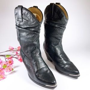Dingo Bailey Black Leather Western Boots Size 7